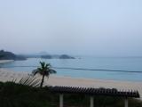 ブセナテラスのロビーから見えたビーチ