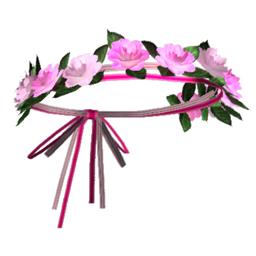 ピンクの花の冠