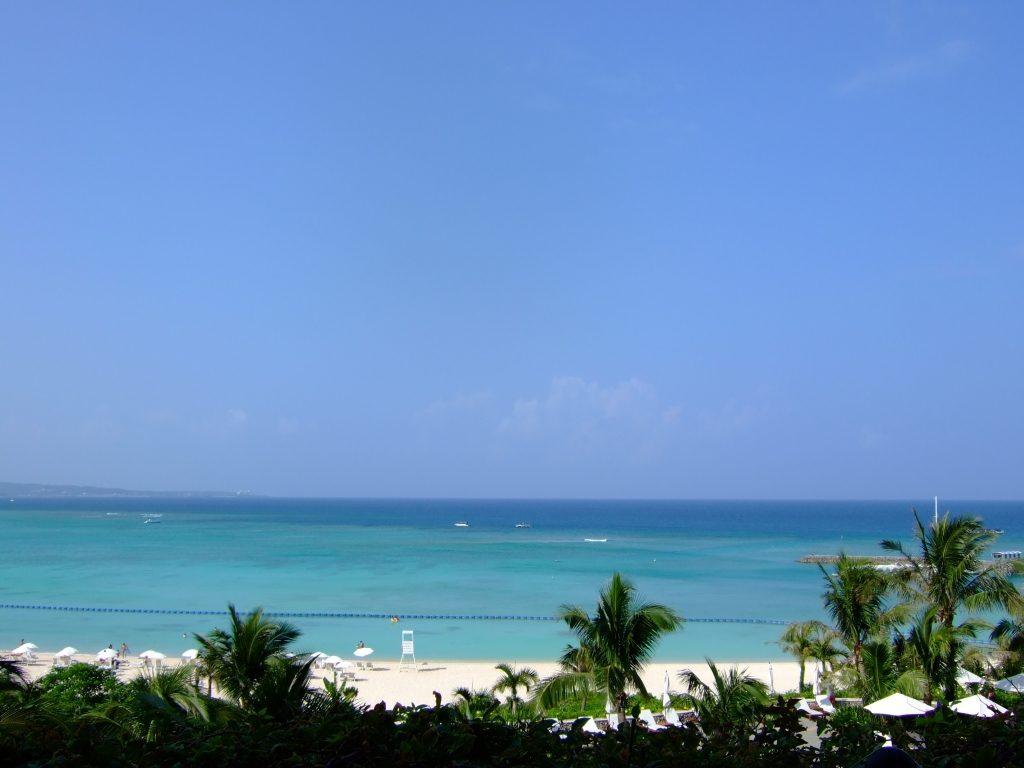 ブセナテラスから見えるビーチ