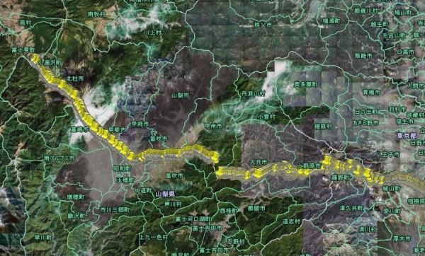 GPS-CSK1で記録したツーリングログ