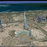 Googleマップで世界一高いビル「ブルジュ・ハリファ」に行ってみよう