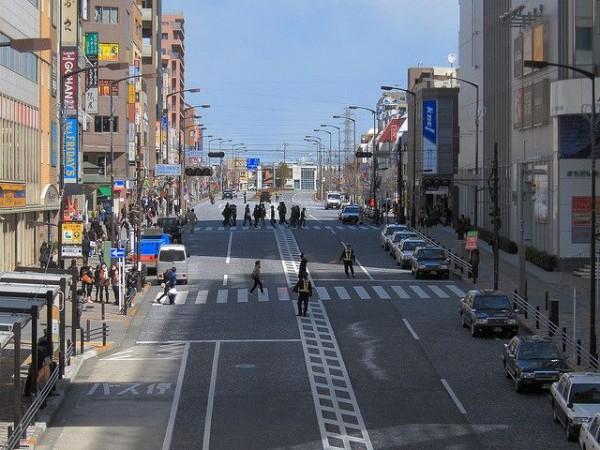 東日本大地震から五日後の町田駅前