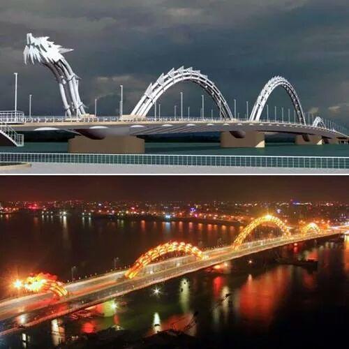 Amazing bridge in Danang Vietnam - Imgur