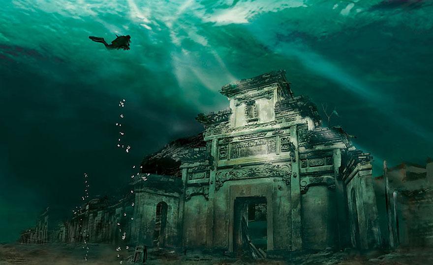 水中の石城都市、中国