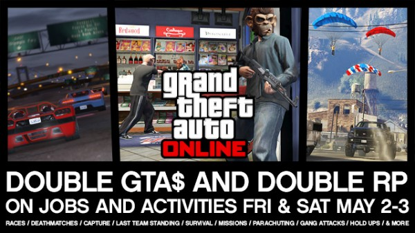 Get Double GTA$ & Double RP Today and Tomorrow in GTA Online