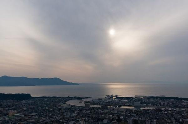 香貫山から見た駿河湾
