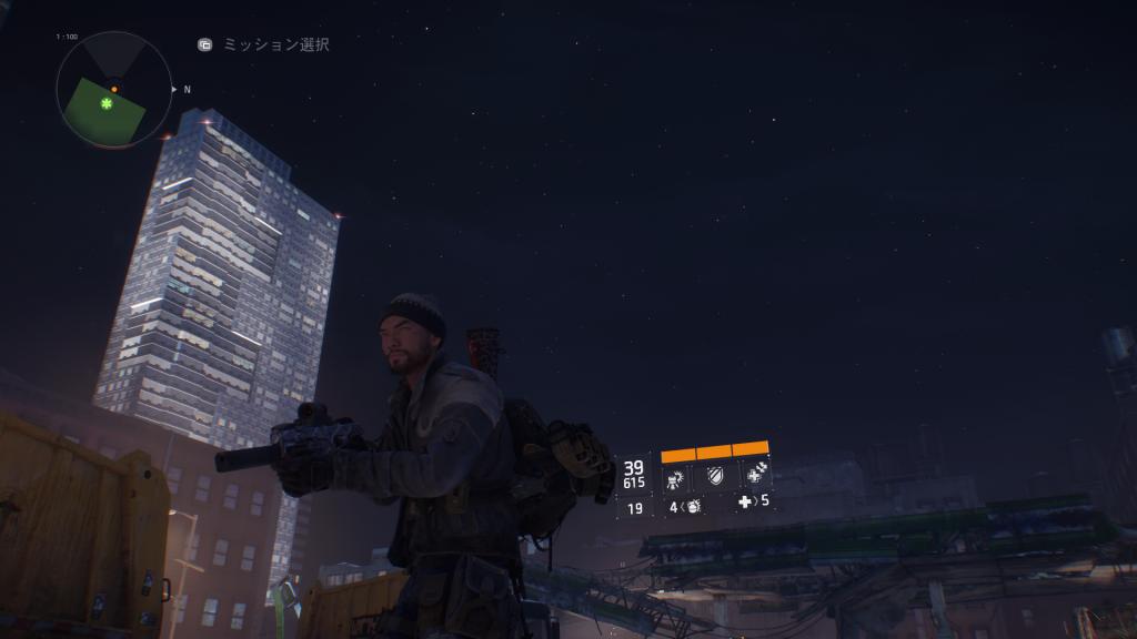 ゲーム「ディビジョン」内で見られるニューヨークの星空