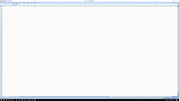Excelの100%表示で71行AI列まで表示された