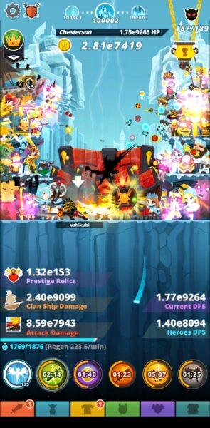 Tap Titans 2 で10万ステージを超えました
