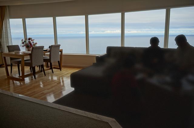 ノイシュロス小樽、室内からの眺めその2