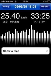 RunKeeperで記録した走行ログ