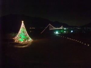 宮ヶ瀬ダムのクリスマスツリー