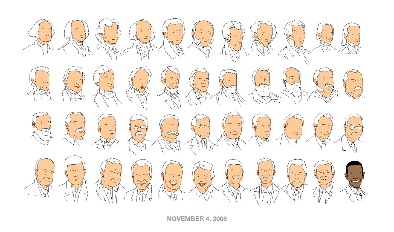 歴代アメリカ大統領の似顔絵